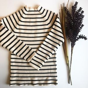 Other - Cream and black striped sweater dress